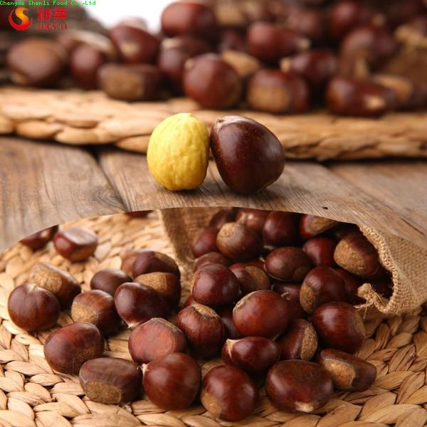 Sweet fresh chestnuts