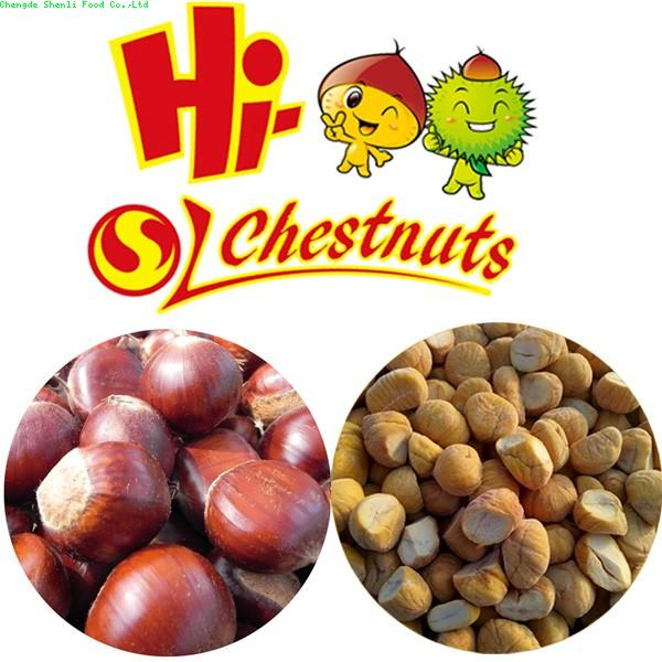 IQF Frozen Peeled Chestnut Castanea Sativa