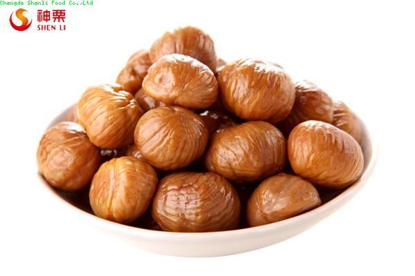 Organic roasted peeled chestnuts